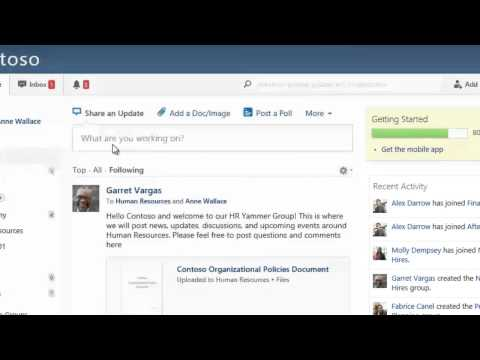 SharePoint - Use Yammer to connect your distributed workforce