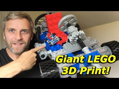 Watch what it takes to build a giant 3D-printed LEGO go-kart