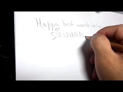 ASMR Binaural Writing with a Pencil [No Talking] - May the fourth be with you