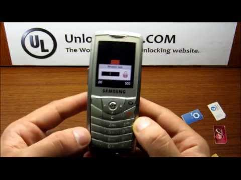 How To Unlock Samsung E200 by Unlock Code.