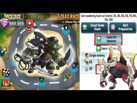 Monster Legends - Team Race Shork level 115 Review Progress
