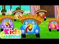 Five Little Turkey   Little Red Car Cartoon Videos   Song for Children - Kids Channel