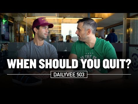When Should You Quit? Perseverance vs Delusion | DailyVee 503