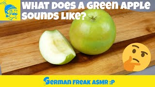 How does a green apple sounds like?🤔🍏 (Quick ASMR) #2
