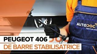 Remplacement Biellette stabilisatrice PEUGEOT 406 : manuel d'atelier