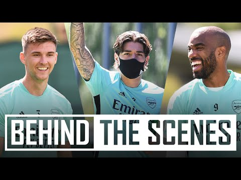 Gym, rondos & shooting practice | Rangers vs Arsenal | Behind the scenes in Scotland