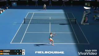 Alexander Zverev vs Rafael Nadal HOT SHOT || Australian Open 2017