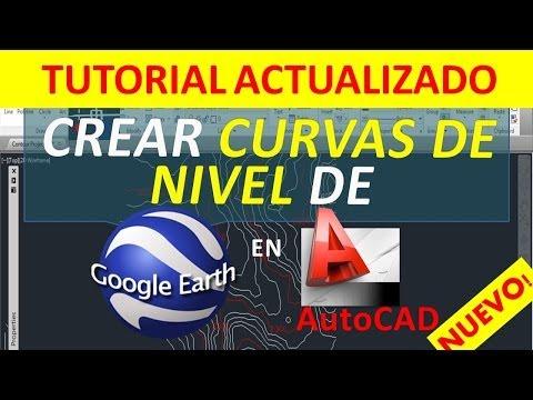 Crear Curvas de nivel de Google Earth en AutoCAD con App Gratis (Nuevo Método)