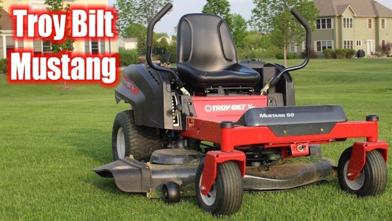 More Troy Bilt Xp Mustang Cutting Grass Youtube