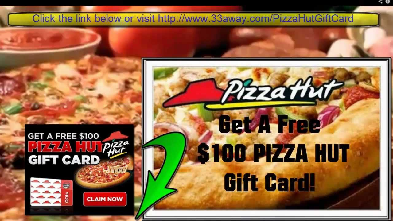 Pizza Hut Free Gift Card - YouTube