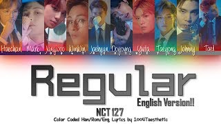 NCT 127 엔씨티 127 - Regular 레귤러 English Ver. Color Coded