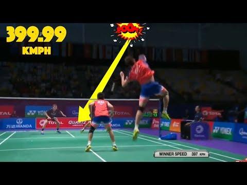 20 Fastest SMASHES in Badminton