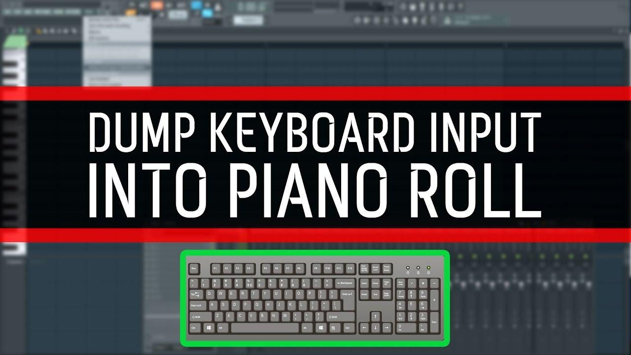 How to dump keyboard input into piano roll - FL Studio 12 (Beginner)
