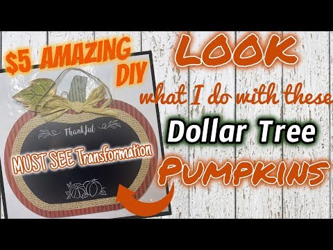 LOOK What I Make With These DOLLAR TREE PUMPKINS | $5 DIY