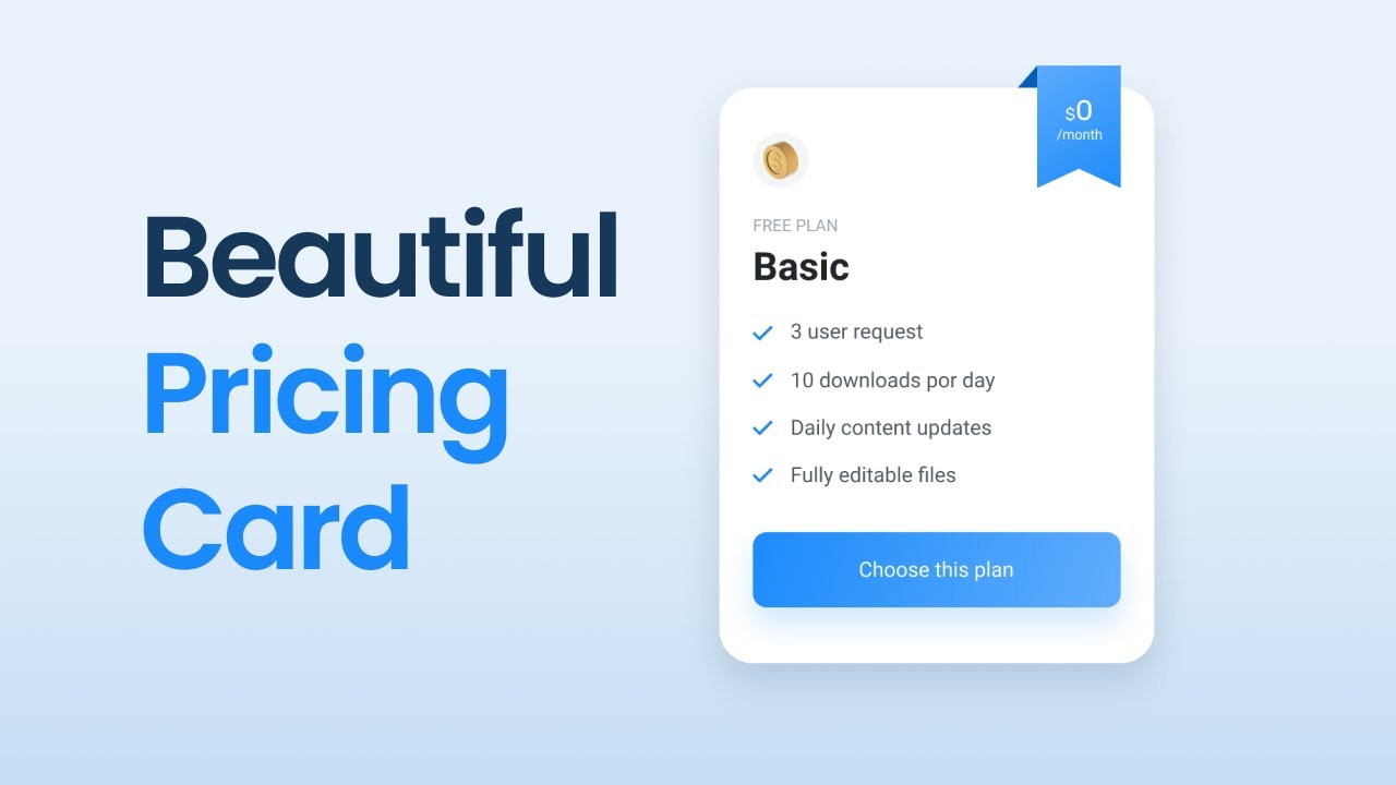 Responsive Pricing Card Table Using HTML & CSS