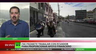 FMI promete trabajar con Ecuador para proporcionar apoyo financiero