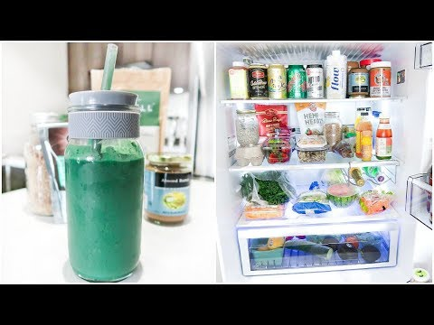 GREEN SMOOTHIE RECIPE & WHAT'S IN MY FRIDGE! Clean Eating