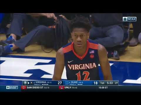(NCAAM) #2 Virginia Cavaliers at #4 Duke Blue Devils in 40 Minutes