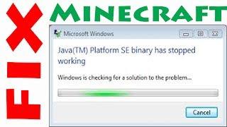 Minecraft 1.12 Java SE binary/new launcher not responding FIX!!!