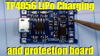 TP4056 LiPo Charging and protection board