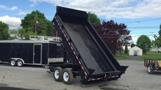 Sure Trac 7x14 HD Low Profile Hydraulic Dump Trailer 14000# GVW ST8214DD-B-140