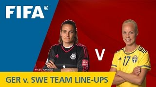 Germany v. Sweden - Team Lineups EXCLUSIVE