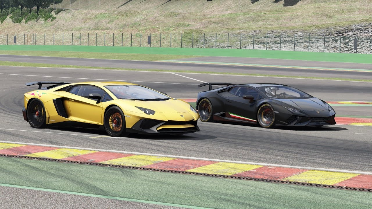 Lamborghini Aventador Sv Vs Huracan Performante Onboard At Spa Assetto Corsa