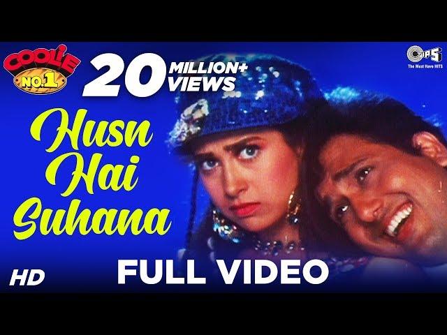 Husn Hai Suhana - Video Song   Coolie No. 1   Govinda & Karisma Kapoor   Abhijeet & Chandana Dixit