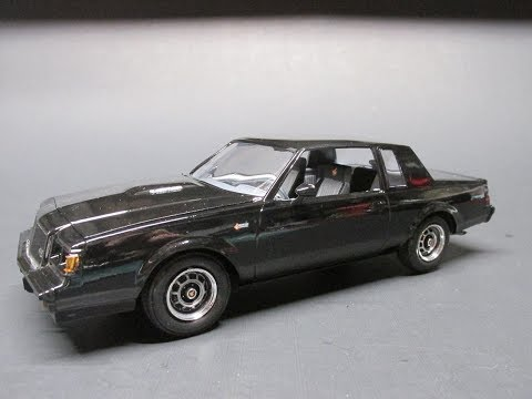 Monogram 1987 Buick Regal Grand National GNX 1/24 Scale Model Kit Build Review 85-4495