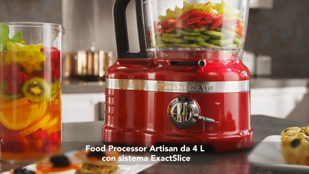 FOOD PROCESSOR DA 4L - KITCHENAID ARTISAN 5KFP1644 - YouTube