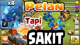 TROOPS Baru TH 11,COCOK BUAT YANG ........NAIK TH 12, PAKE SPELL FREZZE MAX LEVEL 7 COC INDONESIA