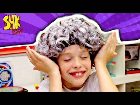 SUPERHEROKIDS PLAY GREEDY GRANNY GAME CHALLENGE! Don't Wake Granny!