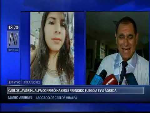 """Abogado de agresor de Eyvi Ágreda: """"Solamente quería desfigurarla"""" [Canal N]"""
