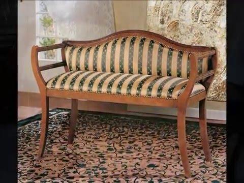 Мебель Prearo (Преаро). Банкетки, пуфы и кресла в классическом стиле.