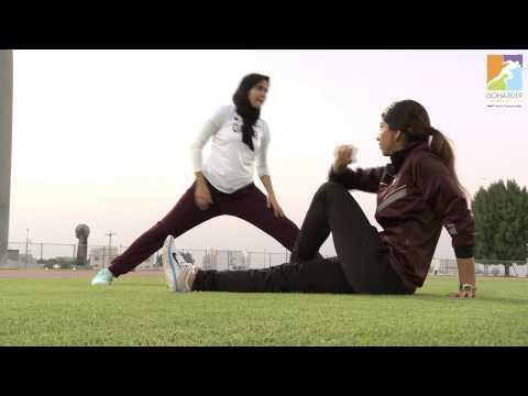 Qatari young female athletes support Doha 2019