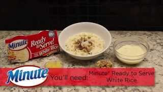 Minute® Ready To Serve Rice: Easy Rice Pudding Recipe