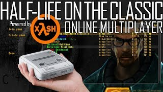 [OUTDATED] Putting Half-Life Online Multiplayer to the test on the SNES Classic! | Powered by xash3d