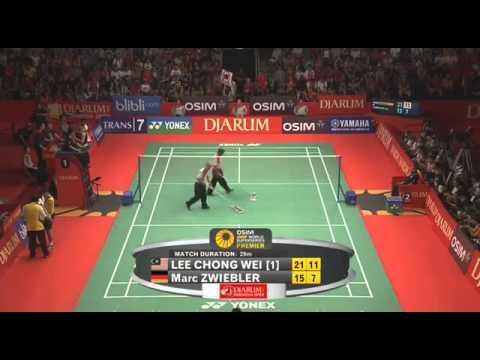 Giải cầu lông Indonesia mở rộng 2013:  Lee Chong Wei vs Marc Zwibler