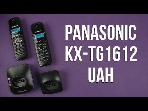 Распаковка Panasonic KX-TG1612UAH