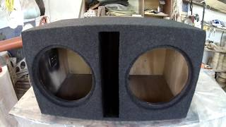 Повседневный короб под два 12 сабвуфера How to Make DIY Powered Car Subwoofer Box