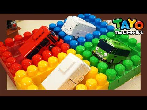 Мощные большегрузные автомобили L Узнайте цвета с бассейном Радуга L Приключения Тайо