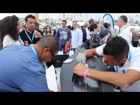 Yachtwrap Demonstrations at the ACREW Lounge, Palma Superyacht Show 2015