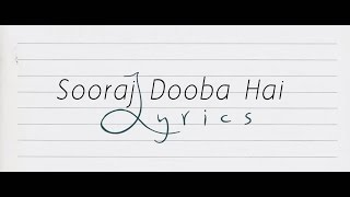 Sooraj Dooba Hai Lyrics | Roy | Arijit singh | Ranbir Kapoor | Aditi Singh Sharma | Tawseef Rahman