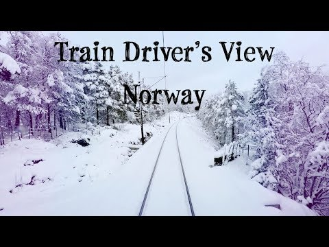 Train Driver's View: Winter is finally here! (Bergen - Ål)