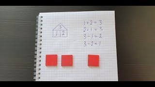 состав числа 3 и домик. Математика 1 класс