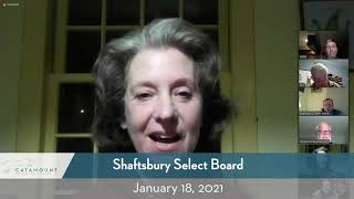 Shaftsbury Select Board // 01/18/21