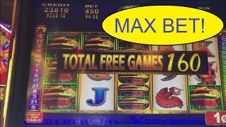 LION FESTIVAL MAX BET 160 FREE SPINS! $4.50 BET!