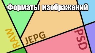 Теория: Форматы изображений, JPEG, PSD, TIFF, RAW.