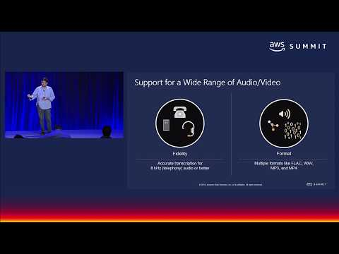 AWS San Francisco Summit 2018 - Amazon Transcribe is Now Generally Available