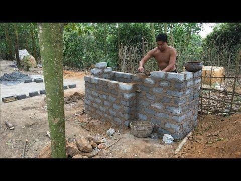 Primitive Technology:Tank from Brick-Part 2-Primitive life-wilderness